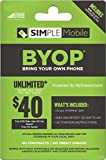 Simple Mobile Dual Sim Card With Preloaded Prefunded $40 Plan First Free Month
