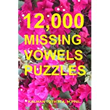12,000 Missing Vowels Puzzles