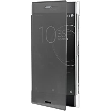 new arrival 6ff93 1d2be Roxfit Sony Xperia XZ Premium Pro Touch Book Case (Black / Clear)