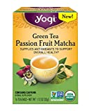 Yogi Tea - Green Tea Passion Fruit Matcha - Supplies Antioxidants - 6 Pack, 96 Tea Bags Total