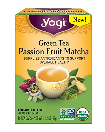Yogi Tea, Passion Fruit Matcha Green Tea, 16 Count ()