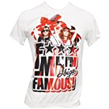 F*** Me I'm Famous Cathy & David Guetta Mens T-shirt - White, S - Small