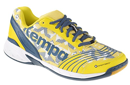 Multicolore pétrole Jaune Mixte Three Attack Adulte blaz Handball blanc Kempa Chaussures De F0Uqvw