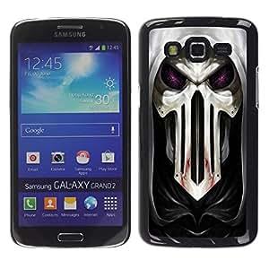 TopCaseStore / la caja del caucho duro de la cubierta de protección de la piel - Cool Goth Skull Mask Scary - Samsung Galaxy Grand 2 SM-G7102 SM-G7105
