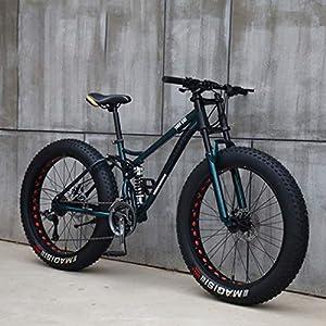 51E6Aso6irL. SS300 AISHFP Mens 26 Pollici Fat Tire Mountain Bike, Biciclette Spiaggia Neve, Doppio Freno a Disco Cruiser Biciclette…