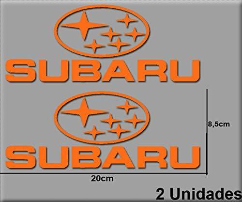 Ecoshirt NX-3PG8-VKB9 Autocollants Subaru R186 Vinyle Adh/ésifs Autocollants Autocollants Autocollants Autocollants Voiture Sport Racing Orange
