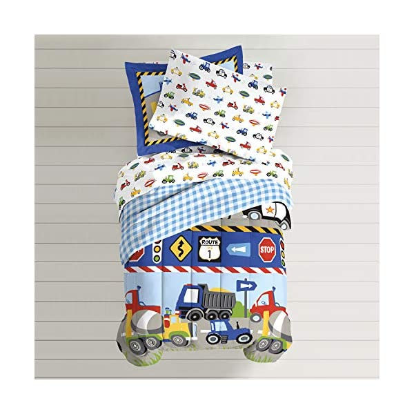 CHF Trains and Trucks Twin Mini Bed in a Bag 6