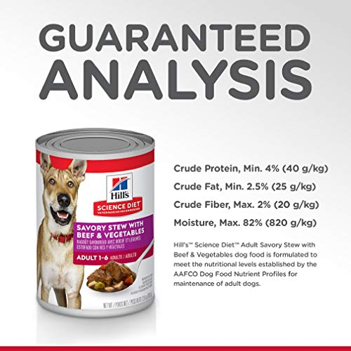 Hill's Science Diet Wet Dog Food, Beef