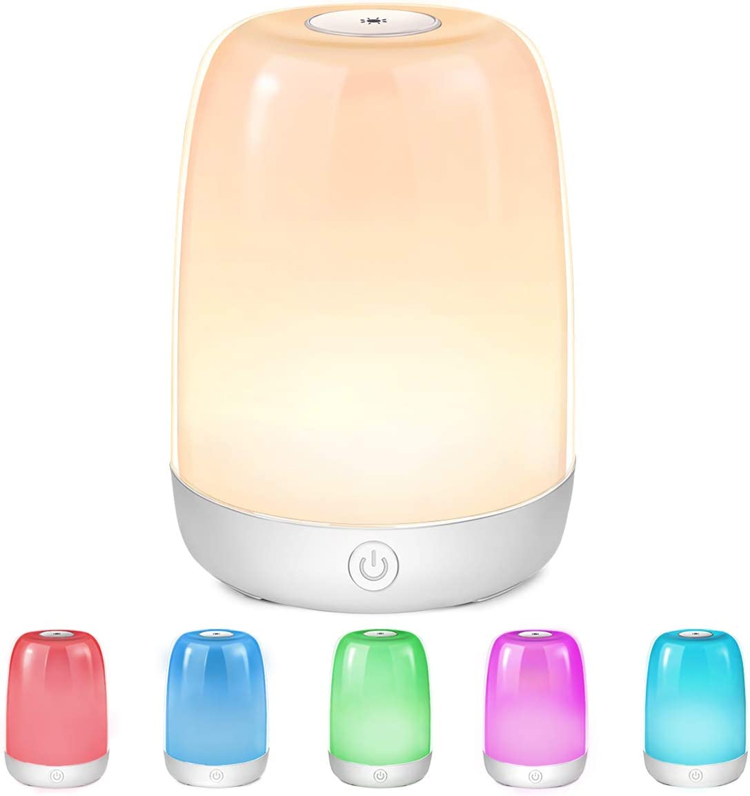 LED Nachttischlampe Dimmbar Atmosphäre Nachtlicht Tischlampe LED Nachtlampe