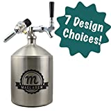 Personalized Etched Beer Dispenser Craft Tower by Spotted Dog Company (Premium, 5 Liter)