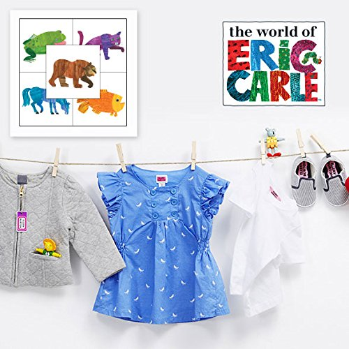 Brown Bear Personalized Clothing Label Package includes Stick-on, Iron-ons & Bag Tags for Kids Waterproof & Laundry Safe