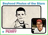 GAYLORD PERRY HOF CLEVELAND INDIANS 1973 TOPPS #346 nrmt-mint Boyhood Photos of the Stars Vintage