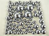 Firefly Imports Homeford Assorted Plastic Bead Pearls, Silver, 14mm/20mm/30mm