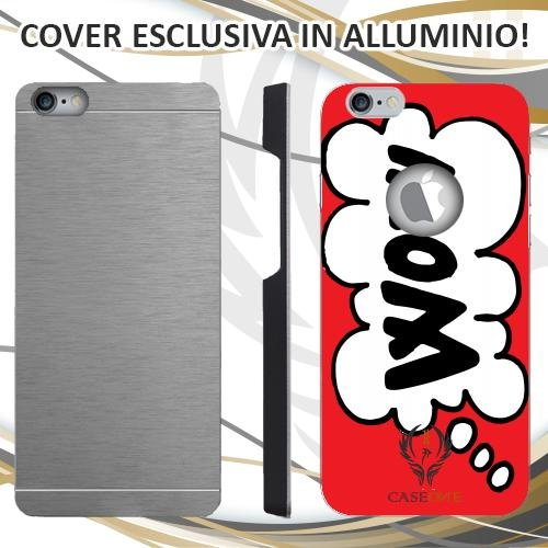 CUSTODIA COVER CASE CASEONE WOW FUMETTO PER IPHONE 6 6S IN ALLUMINIO
