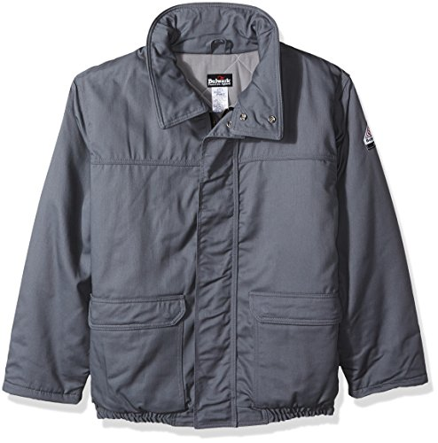 (Bulwark Men's Insulated Bomber Jacket-Excel Fr ComforTouch-Big/Tall, Grey, 2X-Large)