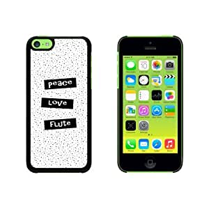 Peace Love Flute Snap On Hard Protective Case for Apple iPhone 6 4.7 - Black