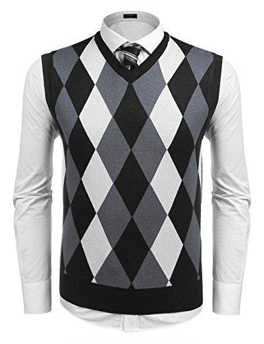 V-Neck Cotton Sweater Vest - 7