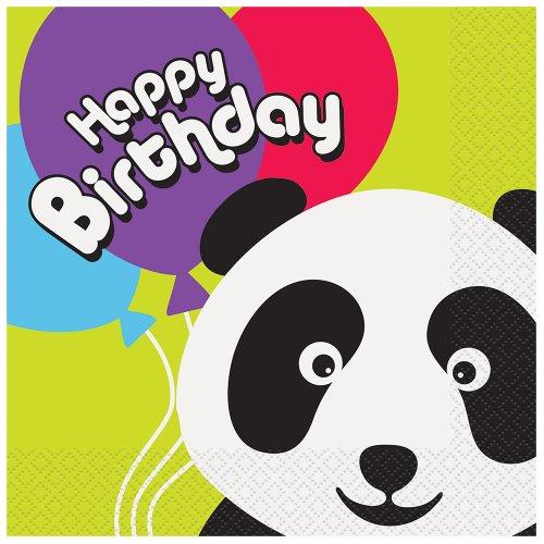 (Panda Birthday Party Napkins,)
