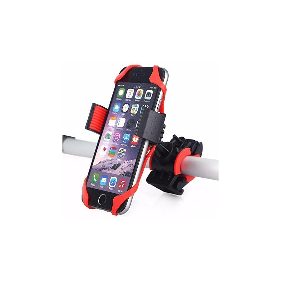 BlueSunshine Bike Phone Mount for any Smart Phone: iPhone 7 /7+, 6 /6+, 5s, 5, Samsung Galaxy S7 /S7 Edge, S6, S5, S4, Nexus, Nokia, LG. Motorcycle, Bicycle Phone Mount. Bike Mount. Bike Accessories