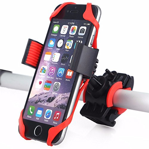 BlueSunshine Bike Phone Mount for any Smart Phone: iPhone 7 /7+, 6 /6+, 5s, 5, Samsung Galaxy S7 /S7 Edge, S6, S5, S4, Nexus, Nokia, LG. Motorcycle, Bicycle Phone Mount. Bike Mount. Bike Accessories