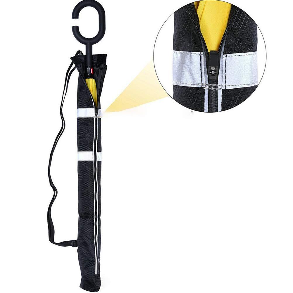 Yardwe 2 Pezzi Borsa per Trasporto per Ombrello Resistente Pratica Custodia per Ombrello Copertura per Ombrello Impermeabile e Antipolvere con Tracolla Regolabile 25,5 Pollici, Nero
