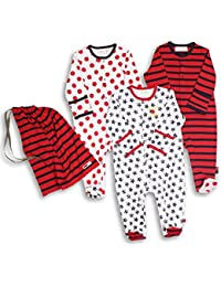 Baby Pack Of 3 Footie Sleeper / Coveralls