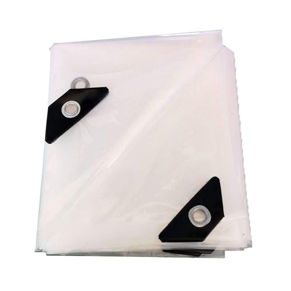 3mx8m Clear tarp Tarpaulin Outdoor Sunshade Awning Cloth Tarpaulin Thick Plastic Cloth Transparent Waterproof Cloth rain Cloth,3mx8m