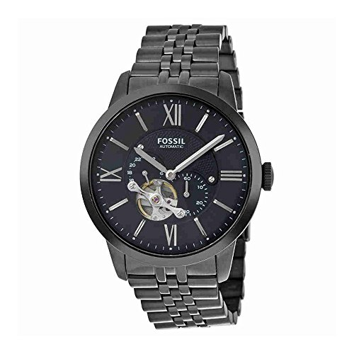 Fossil Men's ME3062 Townsman Mechanical Stainless Steel Watch with Black Link Bracelet