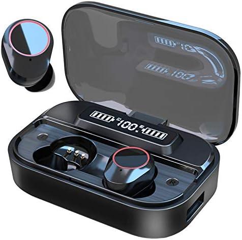 Fukvee G05 True Wireless Earbuds Bluetooth 5.0 Headphones, IPX7 Waterproof Earphones for Sports, 110H Playtime w/ 3000mAh Charging Case, 3D Stereo Audio Touch Control in-Ear Headset w/Mic