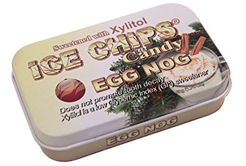 Hand Crafted Candy Tin Egg Nog Ice Chips Candy 1.76 oz Candy