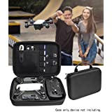Upgraded rotective Case for DJI Spark Portable Mini Quadcopter Drone, Slots for Charger adpter, 2 batteries and propellers, Pockets for USB, Cable, Micro SD Cards and Charger base (Black 1/2 deeper)