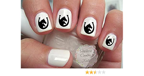 Amazon.com : Double Horse Head and Horse Shoe Colt and Horse Nail Art Nail  Decals : Beauty - Amazon.com : Double Horse Head And Horse Shoe Colt And Horse Nail