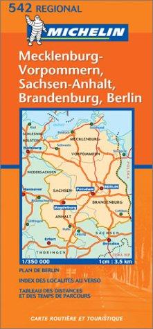 Michelin Mecklenburg-Vorpommern, Sachsen-Anhalt, Brandenburg, Berlin (French, German, English and Dutch Edition)