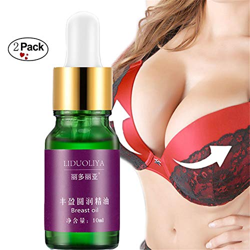 Breast Enlargement Essential Oil Firming Enhancement Cream Safe Fast Big Bust By Shouhengda (2 Bottle Pack)