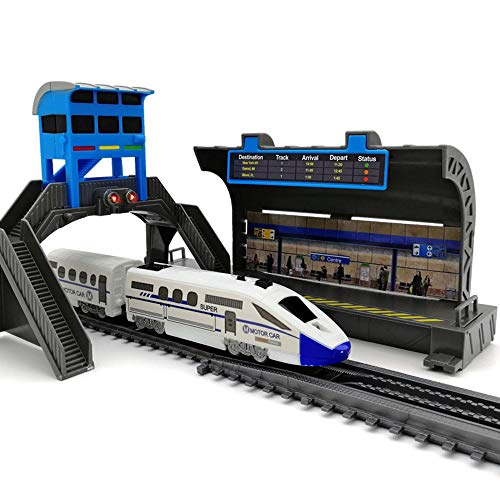 (XWU Children Kids Electric High-Speed Rail Car Train Model Toy Home Room Decoration Children Early Learn Education Toys Birthday Gift)