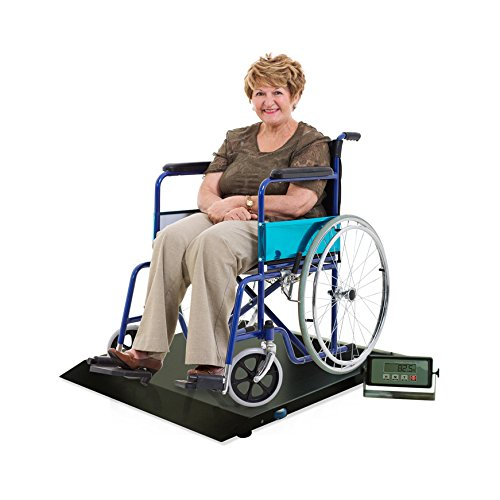 Heavy Duty Digital Portable Floor Wheelchair Scale, All-metal Contruction and Platform with Ramp Medical Electronic