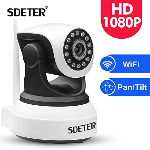 SDETER IP Camera 1080P HD Wireless -Security Camera with PTZ ,Two-way Audio,