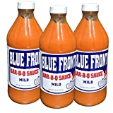 "BLUE FRONT BAR-B-Q Sauce ""MILD TRIO"" (3) 16oz Bottles of thick spicy deliciousness - Pleasing BBQ lovers for over 40 years"
