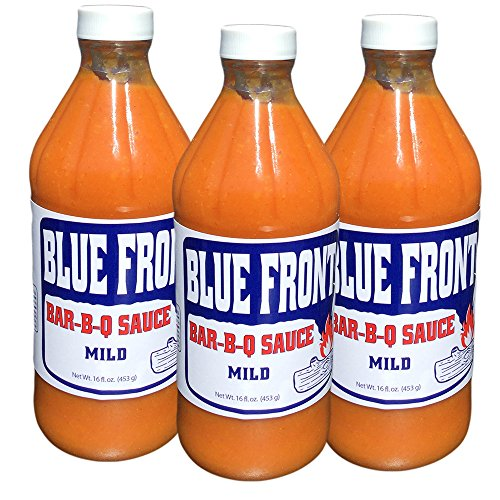 "BLUE FRONT BAR-B-Q Sauce ""MILD TRIO"" (3) 16oz Bottles of thick spicy deliciousness - Pleasing BBQ lovers for over 40 years by BLUE FRONT BAR-B-Q"