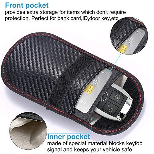 7efdff97acc8 Upgraded Faraday Bag for Key Fob (2 Pack), TICONN Premium Faraday Cage Car  Key Protector - RFID Signal Blocking, Anti-Theft Pouch, Anti-Hacking Case  ...