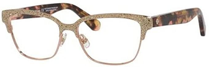 dd64830d2631 Image Unavailable. Image not available for. Color  Eyeglasses Kate Spade  Ladonna 0S41 Rose Gold Pink Havana