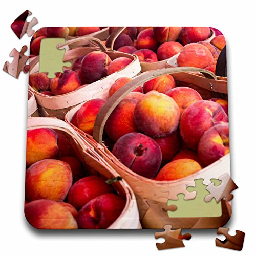 Danita Delimont - Fruit - Peaches for sale at a farmers market, Charleston, South Carolina. USA - 10x10 Inch Puzzle (pzl_251395_2)