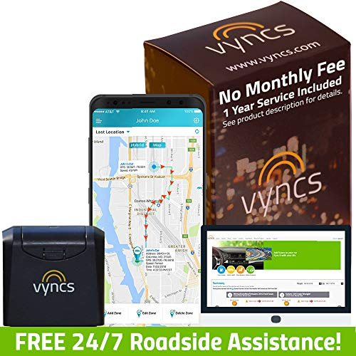 VYNCS Premium: No Monthly Fees GPS Tracker OBD 3G Vehicle GPS Tracking, Teen Driver Safety VPOBDGPS1 (Small Gps Tracking Device No Monthly Fee)