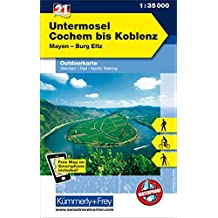 KuF Deutschland Outdoorkarte 21 Untermosel - Cochem bis Koblenz 1 : 35.000