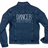 Athlete, Artist, Dancer Denim Jacket: Ladies Denim Jean Jacket