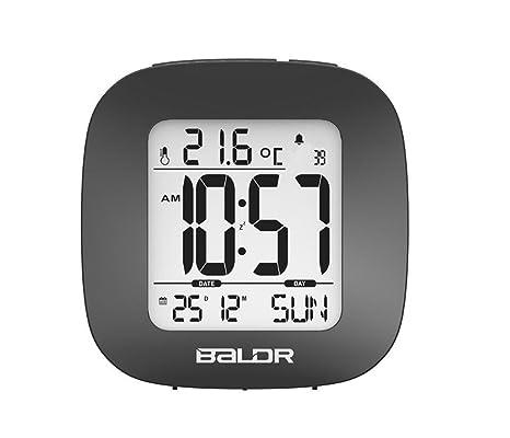 SXWY Reloj Despertador Digital, Reloj Despertador LCD para ...