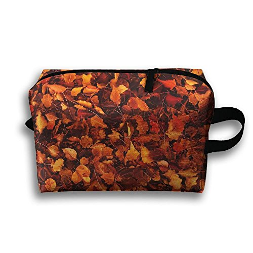 Maple Leaves In Autumn Cosmetic Bags Makeup Organizer Bag Pouch Zipper Purse Handbag Clutch Bag