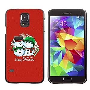 YOYO Slim PC / Aluminium Case Cover Armor Shell Portection //Christmas Holiday Merry Chrstmas Friendly Snow Men 1105 //Samsung Galaxy S5