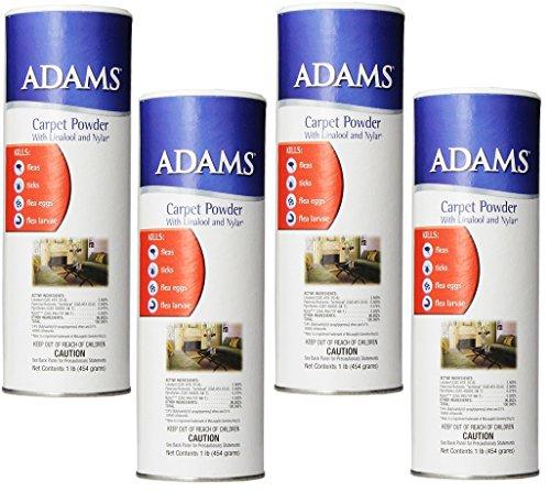 (4 Pack) Adams 12-Ounce Flea and Tick Carpet Powder
