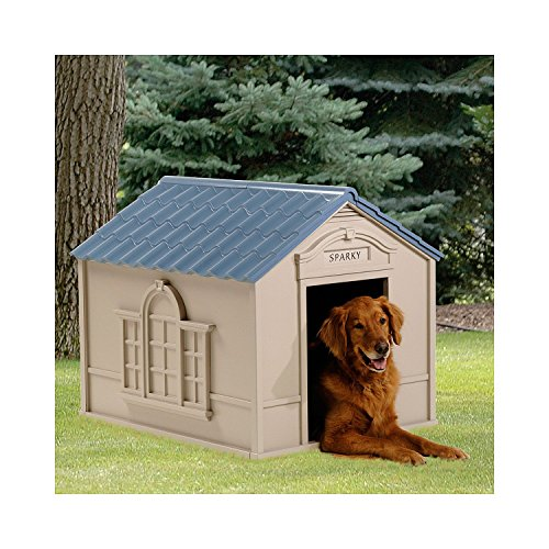 Large outdoor dog house big pet kennel all weather for All weather dog kennels